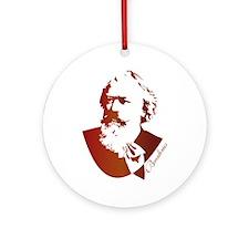 Silhouette Johannes Brahms Ornament (Round)