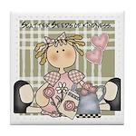 Scatter Seeds of Kindness Tile Coaster