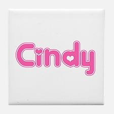 """""""Cindy"""" Tile Coaster"""