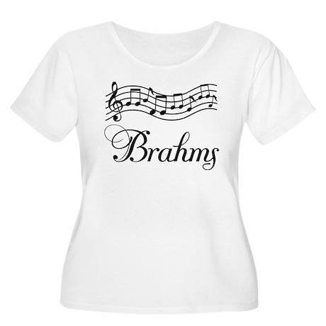 Musical Brahms Women's Plus Size Scoop Neck T-Shir
