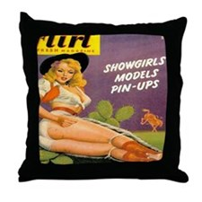 Cowboy Showgirl Throw Pillow