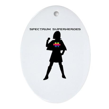 Spectrum Superheroes V2 Ornament (Oval)