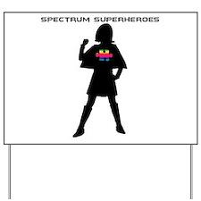 Spectrum Superheroes V2 Yard Sign