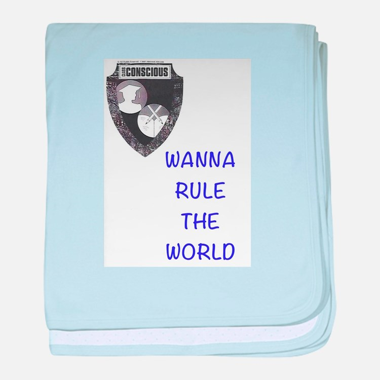 Rule The World baby blanket