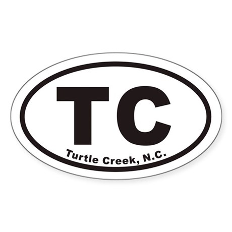 Turtle Creek, N.C. Sticker (Oval)