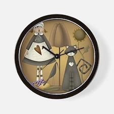 Pilgrim Girl Wall Clock