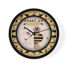 Sweet As Honey Wall Clock