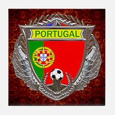 Portugal Soccer Tile Coaster
