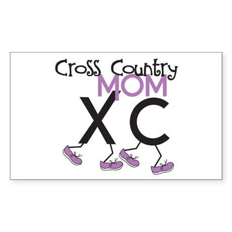Cross Country Mom Sticker (Rectangle)