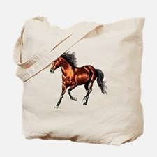 Cantering Bay Horse Tote Bag