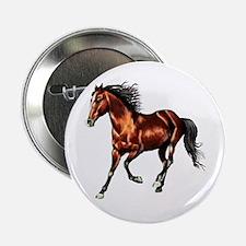 """Cantering Bay Horse 2.25"""" Button"""
