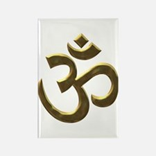 Golden Ohm & Buddha Quote Rectangle Magnet