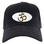 Golden Ohm & Buddha Quote Black Cap