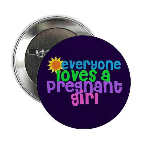 """Pregnant Girl 2.25"""" Button"""