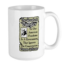 """Jefferson: The Greatest Danger"" Mug"