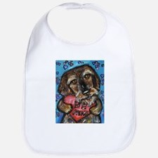 wirehaired dachshund be mine Bib