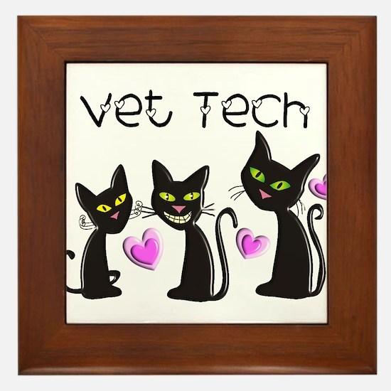 Vet Technician Framed Tile
