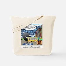 What keeps gray whales awake. Tote Bag