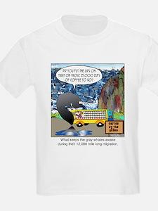What keeps gray whales awake. T-Shirt