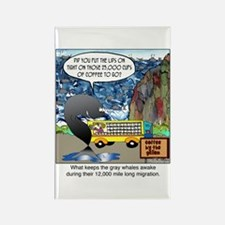 What keeps gray whales awake. Rectangle Magnet (10