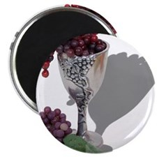 Wine Chalice Grapes Magnet