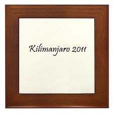 Kilimanjaro 2011 Framed Tile