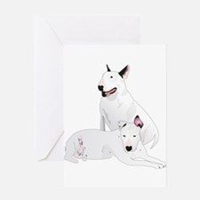 Bull Terrier Soli & Ozzy Greeting Card