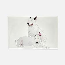 Bull Terrier Soli & Ozzy Rectangle Magnet