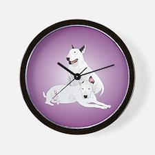 Bull Terrier Soli & Ozzy Wall Clock