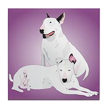 Bull Terrier Soli & Ozzy Tile Coaster