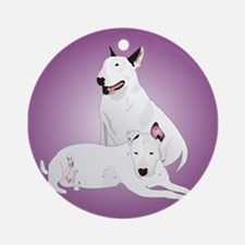 Bull Terrier Soli & Ozzy Ornament (Round)