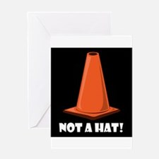 NOT A HAT Cards & Bags Greeting Card