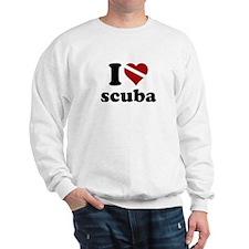 i heart scuba Sweatshirt