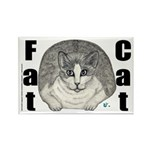 Fat Cat Rectangle Magnet (10 pack)