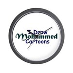 I Draw Mohammed Cartoons Wall Clock
