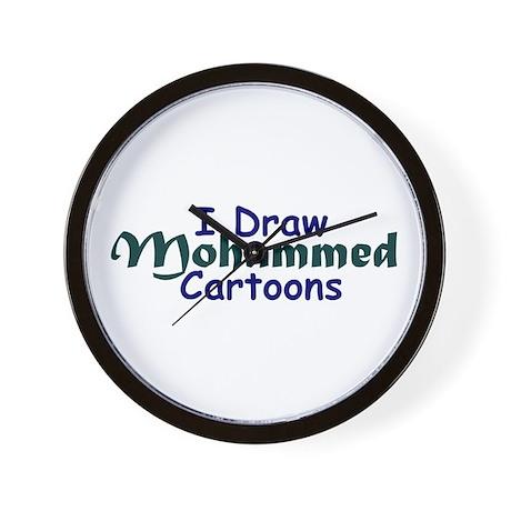 I Draw Mohammed Cartoons Wall Clock