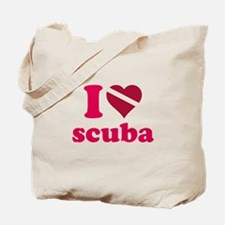 I heart scuba Tote Bag