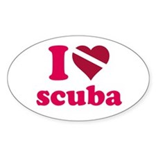 I heart scuba Decal