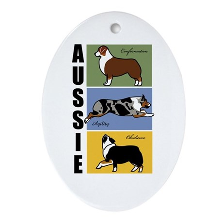 Aussie's Do It All Ornament (Oval)