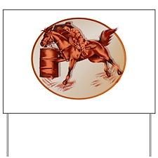 Barrel Horse Framed Yard Sign