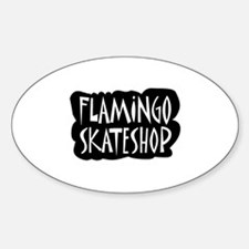 flamingo design 2 Sticker (Oval)