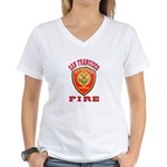 San Francisco Fire Department Women's V-Neck T-Shi