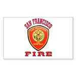 San Francisco Fire Department Sticker (Rectangle 5