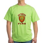 San Francisco Fire Department Green T-Shirt