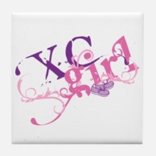 Cross Country Girl Tile Coaster