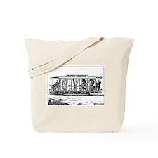 Vintage Train Illustration Tote Bag