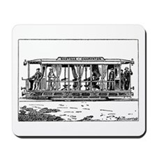 Vintage Train Illustration Mousepad
