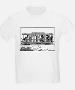 Vintage Train Illustration T-Shirt