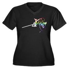 Unique Dark side Women's Plus Size V-Neck Dark T-Shirt