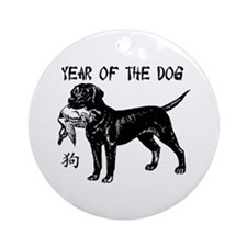 Year of the Dog Lab Ornament (Round)